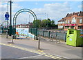 Dist:0.2km<br/>This is one of two entrances on the Neasden Lane side of the road. The arch of the other entrance can be seen in the background. The subway under the North Circular Road emerges in Neasden Lane North.