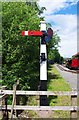 SJ8248 : Railway signal near Apedale Station, Apedale Community Country Park, near Chesterton by P L Chadwick