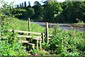 NT7031 : Stile on the Borders Abbeys Way, River Teviot by Jim Barton