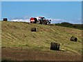 NS7638 : Grass baling at Auchrobert by wrobison