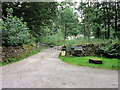 SK2383 : The entrance to North Lees campsite by Ian S