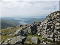NN0546 : View down Loch Creran from summit of Beinn Sgulaird by Alan O'Dowd