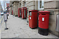 SD7109 : Bolton Branch Office | 124 Deansgate pillar box (ref. BL1 900)  by Alan Murray-Rust