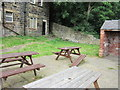 SK3093 : The beer garden at the Travellers Rest by Ian S