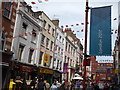 TQ2980 : Gerrard Street During the Olympic Games by Colin Smith