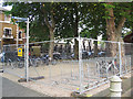 TQ3878 : Temporary cycle parking in the ORNC by Stephen Craven