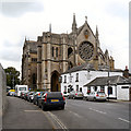 TQ0107 : St Mary's Gate Inn and Arundel Cathedral by David Dixon