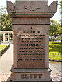 TQ3104 : Egypt War Memorial - Inscription by David Dixon