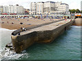 TQ3103 : Jetty Next To Brighton Pier by David Dixon
