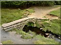 SK2681 : Packhorse bridge over Burbage Brook below Carl Wark by Chris Morgan