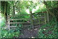 SP0512 : Gate across path in Chedworth by Terry Jacombs