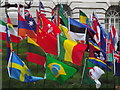TQ3079 : Olympic Family Flags by Colin Smith