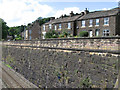 SK0482 : Chinley - terrace at bottom of Stubbins Lane by Dave Bevis