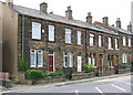 SE2223 : Heckmondwike - terrace on High Street (Hill Top) by Dave Bevis