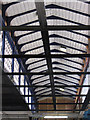 SE2421 : Dewsbury - Station footbridge underside by Dave Bevis