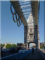 TQ3380 : Olympic Rings, Tower Bridge SE1 by R Sones