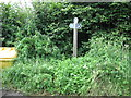 ST6759 : Bridleway sign on Parkway Lane by James Ayres