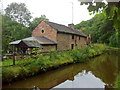 SK0048 : Former mill buildings on the Caldon Canal by Andrew Abbott