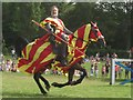 TQ4845 : Jousting display, Hever Castle : Week 34