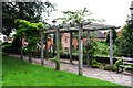 SO8171 : Pergola in Villeneuve-le-Roi Gardens, corner of Lion Hill and Mitton Street, Stourport-on-Severn by P L Chadwick