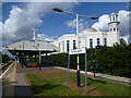 TQ2567 : Morden South station and the Ahmadiyya Mosque by Marathon