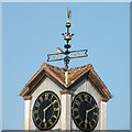TL4559 : Jesus College boathouse clocktower by Keith Edkins
