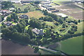 SE8000 : Owston Ferry: Kinnaird Castle and St.Martin's church. Aerial by Chris