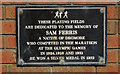 J1952 : Sam Ferris plaque, Dromore by Albert Bridge