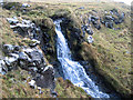 NG3624 : Waterfall above Loch Eynort by John Allan
