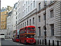 TQ3080 : Number 9 Routemaster Bus in Old Scotland Yard by PAUL FARMER