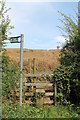 TF4176 : Entrance to Public Footpath with stile by J.Hannan-Briggs