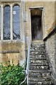 SP0107 : Steps at All Saints Church - North Cerney - Gloucestershire by Brian Chadwick