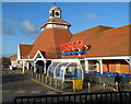 SO4938 : Clock tower, Tesco Abbotsmead Road superstore, Hereford by John Grayson
