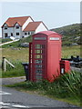 NF7004 : Ardmore: postbox № HS9 9 and phone by Chris Downer