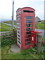 NF7417 : South Boisdale: postbox № HS8 54 and phone by Chris Downer