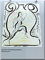 TQ3180 : Olympic Poster: For the Unknown Runner by  Chris Ofili by PAUL FARMER