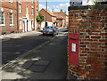 SK7953 : Millgate postbox (ref. NG24 14)  by Alan Murray-Rust