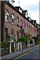 SY6990 : Wollaston Road being patriotic by David Martin
