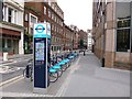 TQ3381 : Aldgate, bicycle hire by Mike Faherty