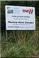 TM2241 : New Onion Store sign at Home Farm, Nacton by Adrian Cable