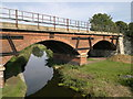 SK6178 : Manton Railway viaduct over Chesterfield Canal by Chris Morgan