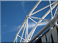 TQ3784 : Olympic Stadium roof detail by Oast House Archive