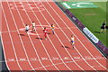 TQ3784 : Women's running, Olympic Stadium by Oast House Archive