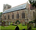 SO4138 : Southern side of Madley Parish Church by John Grayson