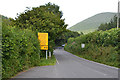 SH8612 : The A458 approaching Mallwyd from the east by Nigel Brown
