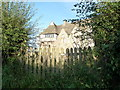 SO4381 : View into Stokesay Castle from the lane outside by Jeremy Bolwell