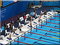 TQ3784 : Paralympics swimming  men's 50M back S5 by David Hawgood