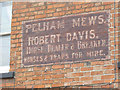 SK7953 : Pelham Mews, painted sign  by Alan Murray-Rust