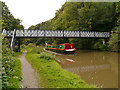 SJ6475 : Narrowboat and Footbridge, Trent and Mersey Canal by David Dixon