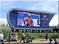 TQ3785 : Big Screen - Olympic Park by Paul Gillett